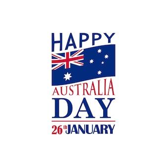 Typography festive banner for australia day