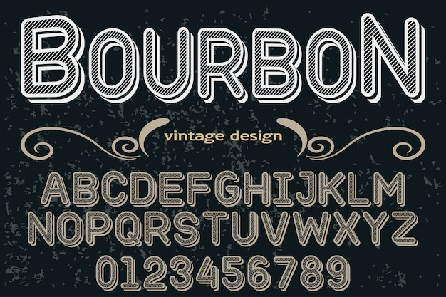 Typography font graphic style bourbon