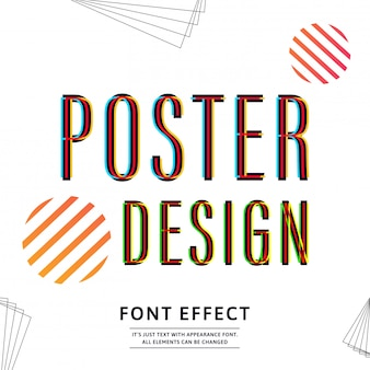 Typography font uppercase for banner design. text effect.