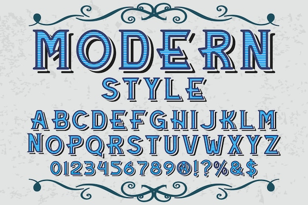 Typography graphic style modern style