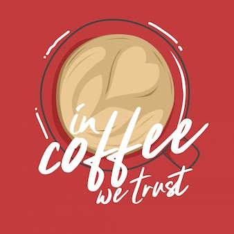 Typography illustration hand lettering coffee quote