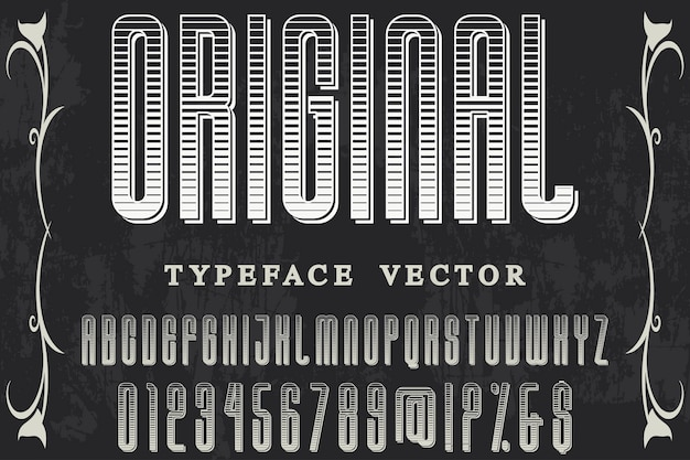 Typography label design orginal