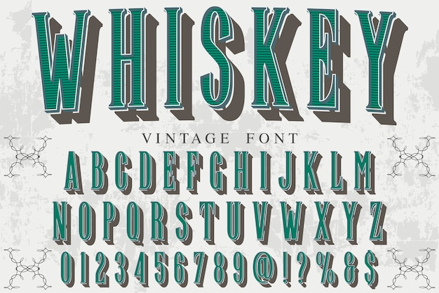 Typography label design whiskey