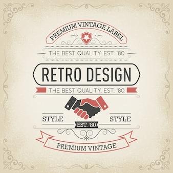 Typography logo design in retro style