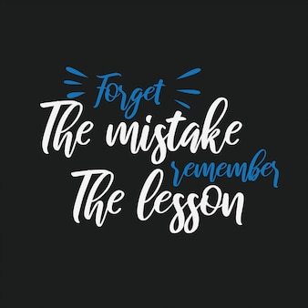 Typography quote hand lettering