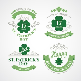 Typography st. patricks day.  illustration