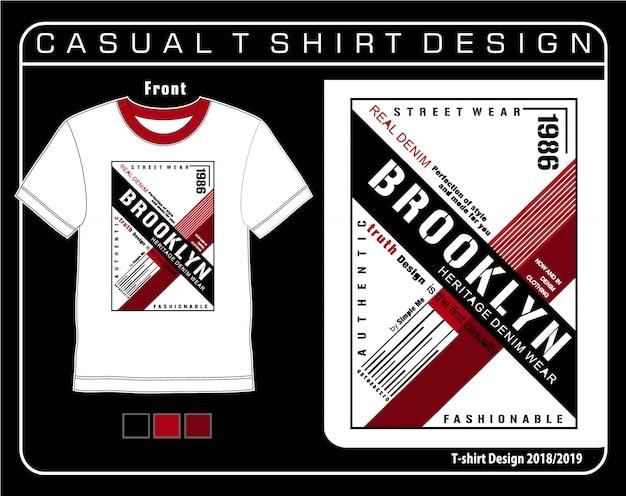 Typography t shirt graphic