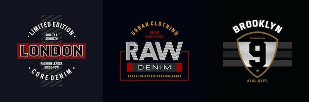Typography for t shirt set design