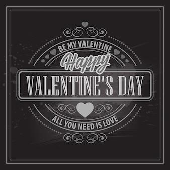 Typography valentine's day cards.