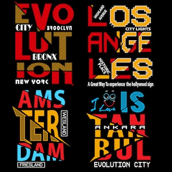 Typography vector set for t shirt and other use