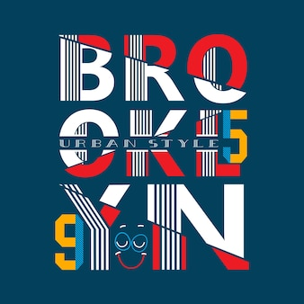 Typograpy brooklyn t shirt vector
