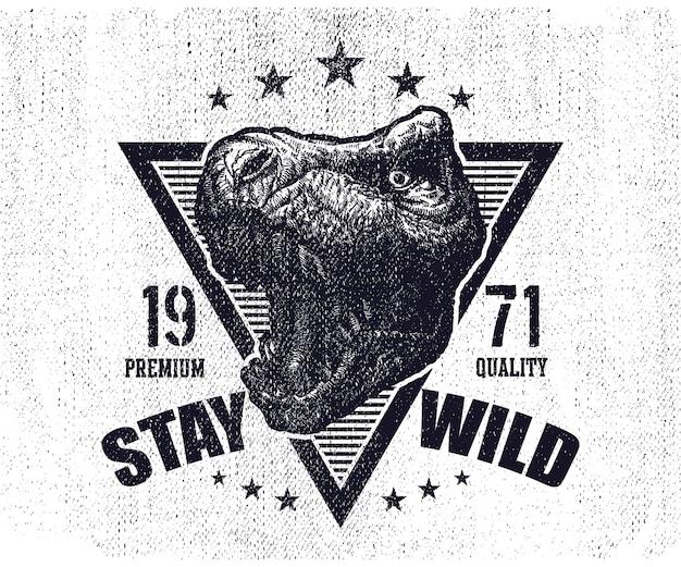 Tyrannosaurus dinosaur logo