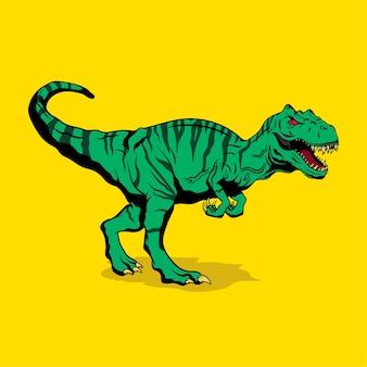 Tyrannosaurus hand drawn