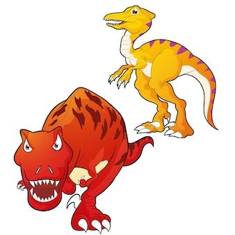 Tyrannosaurus-velociraptor