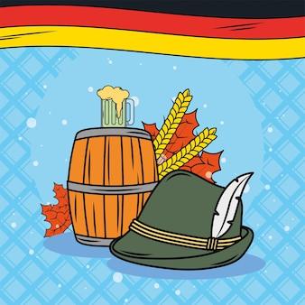티롤 모자와 맥주