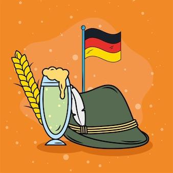 티롤 모자와 깃발