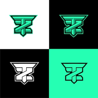 Начальный спортивный шаблон логотипа tz