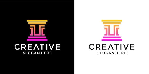 U law firm logo design