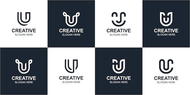 U letter monogram logo