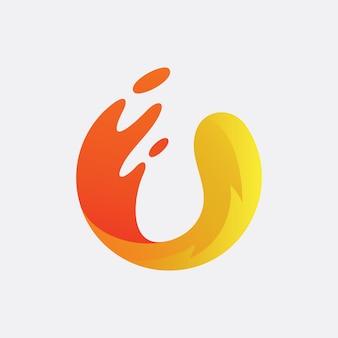 文字uのロゴデザイン