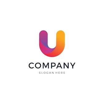 Буква u дизайн логотипа