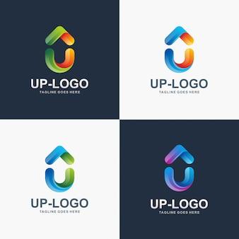 Вверх по логотипу. дизайн логотипа u