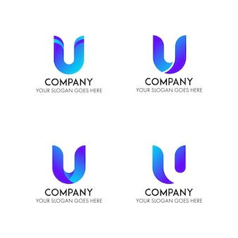 U логотип компании бизнес шаблон
