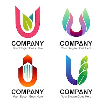 手紙uのロゴのセット