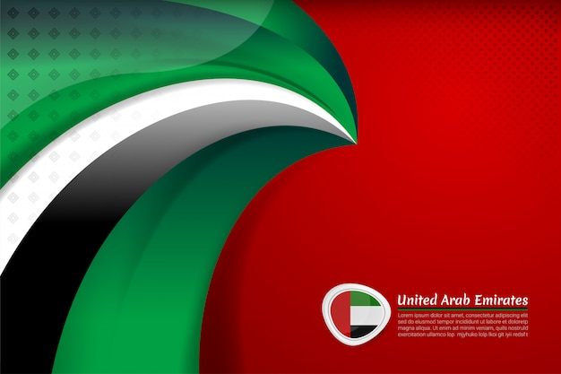 Uae flag background for national day