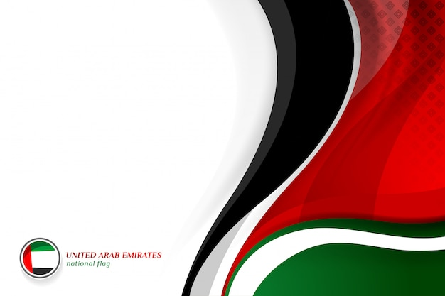 Uae flag concept backgrounds