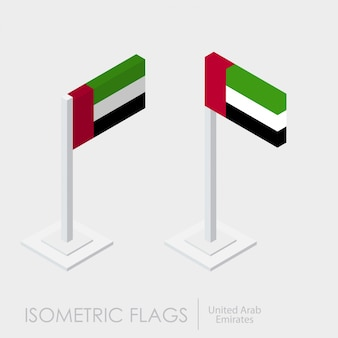 Uae isometric flag