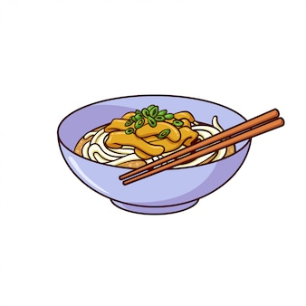 Udon is a typical food from japan