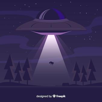 Концепция похищения ufo с плоской конструкцией