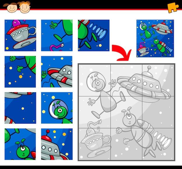 Ufo 외계인 직소 퍼즐 게임