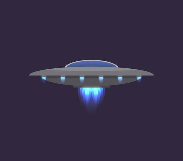 Ufo in deep space icon