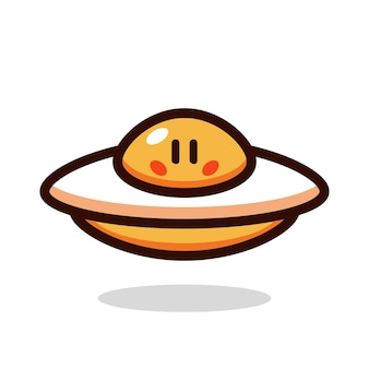 Ufo egg cartoon vector illustration