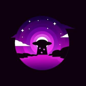 Ufo invasion illustration design