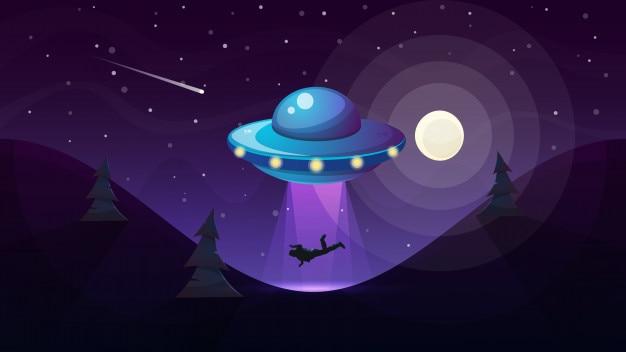 Ufo kidnaps a person