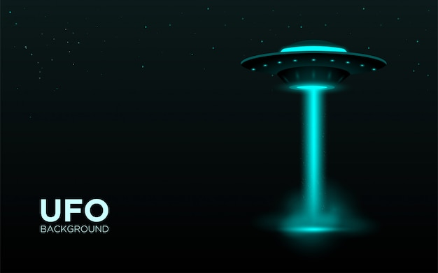 Ufo realistic background