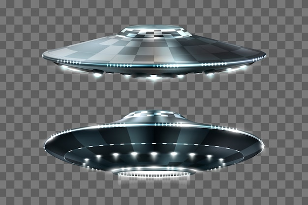Ufo. unidentified flying object. futuristic ufo.