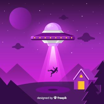 Классическая концепция абдукции ufo с плоской конструкцией