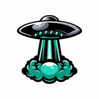 Ufoベクトル要素のロゴ