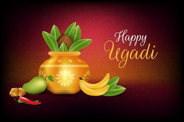 Ugadi event with realistic design
