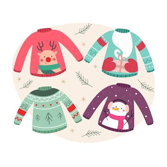 Ugly christmas sweaters set