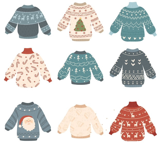 Ugly christmas sweaters supply illustration
