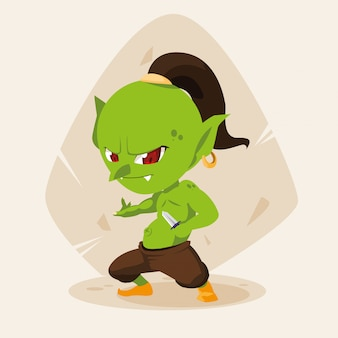 Уродливый сказочный тролль аватар персонажа