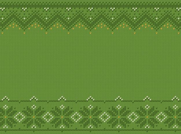スタイル聖パトリックの日のuいセーター。シームレスパターン刺繍、ニット。