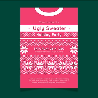 Ugly sweater party invitation template