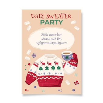 醜いセーターパーティーの招待状