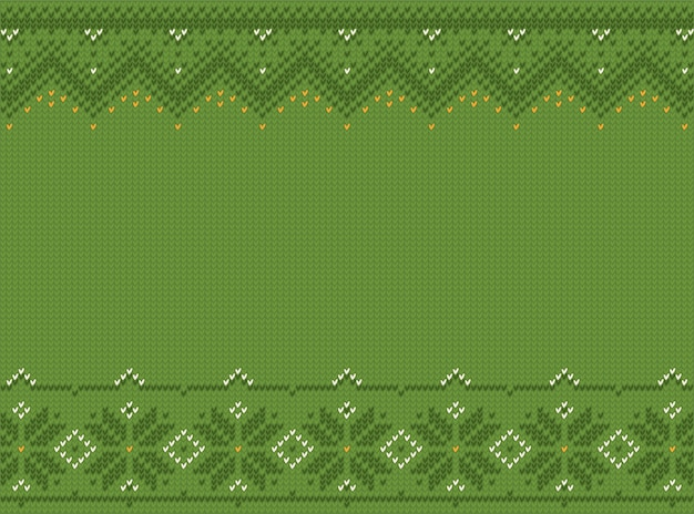 Ugly sweater in style st patrick day. seamless pattern embroidery, knit.